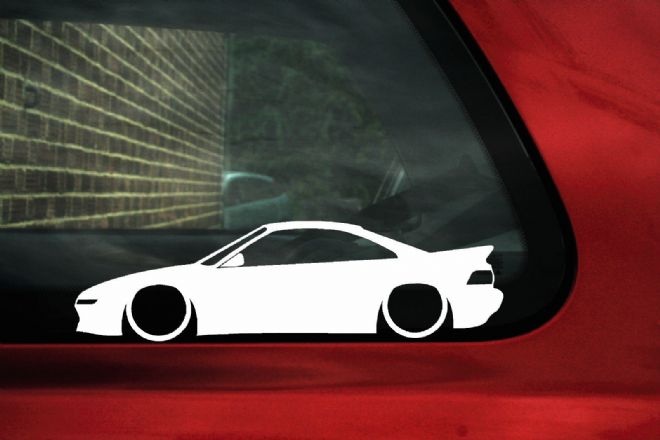 2x Low car outline stickers - Toyota Mr2 w20 GT/GTS Turbo
